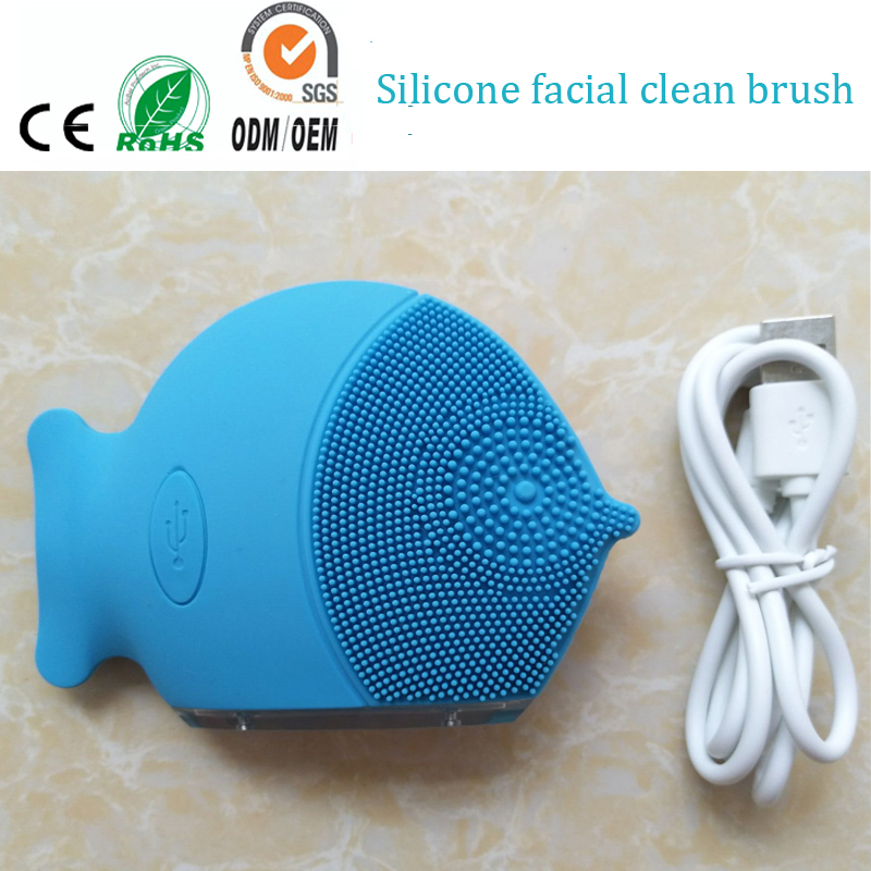Sonic Vibrating Silicone Face Cleansing Brush Massager Electric Silicone Facial Makeup Pigment Blackhead Blemish Cleaner Machine electric face massager remove blackhead waterproof deep cleansing brush silicone face cleanser facial cleansing instrument