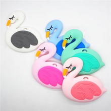 10 шт силиконовый Прорезыватель для зубов chengkai без БФА «Фламинго»