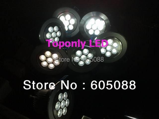 7 Вт Epistar Встраиваемые вниз свет, AC85-265v, жизнь> 000hrs, белый 700lm, гарантия 3 года, 10 шт./лот Оптовая и розничная продажа