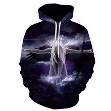 2019 hoodies 3D Men/Women Hoodies With Hat angel Print Autumn Winter Loose Thin Hooded Hoody hip hop Top s-