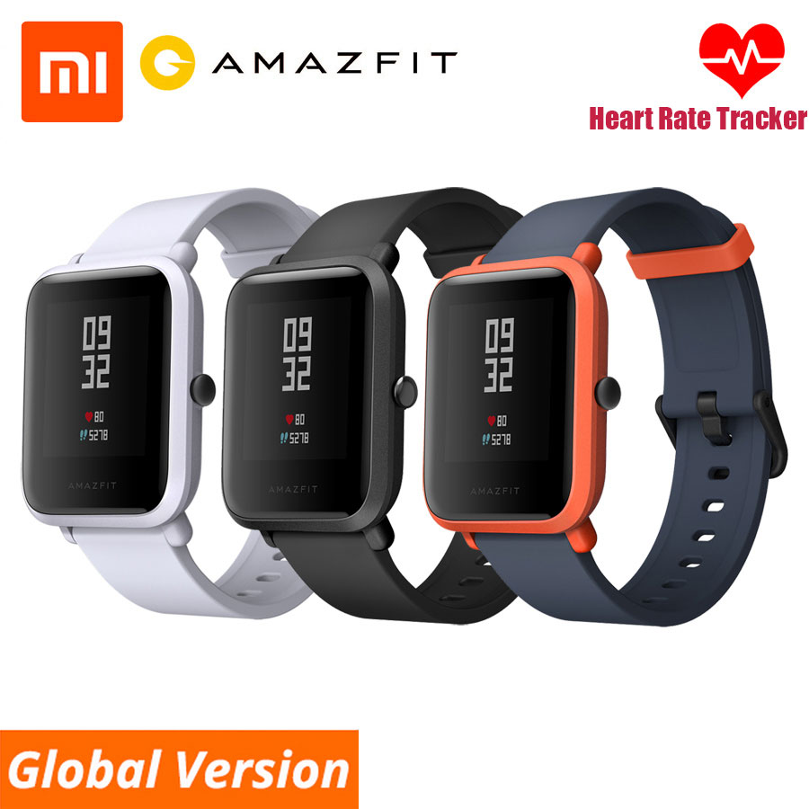Huami Xiaomi Amazfit Bip Smart Watch English Spanish Russian GPS Smartwatch Android iOS Heart Rate Monitor