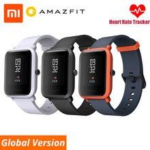 Умные часы Huami xiaomi Amazfit Bip, английский/испанский/русский gps, умные часы на Android iOS, монитор сердечного ритма, xiaomi Smartwatch
