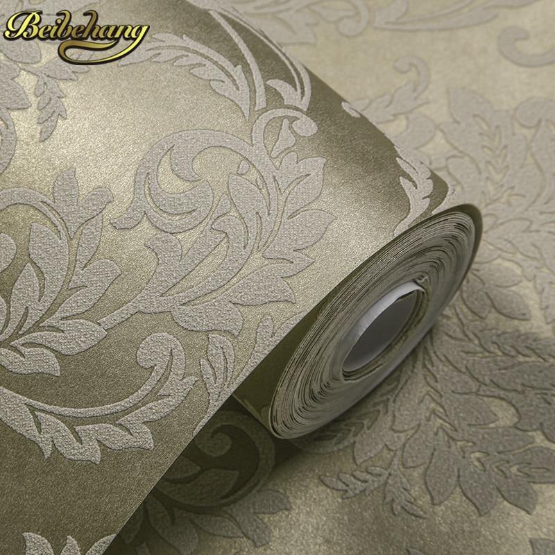 Decor Black Wall Paper : Classic mystery black velvet flocking damask wallpaper