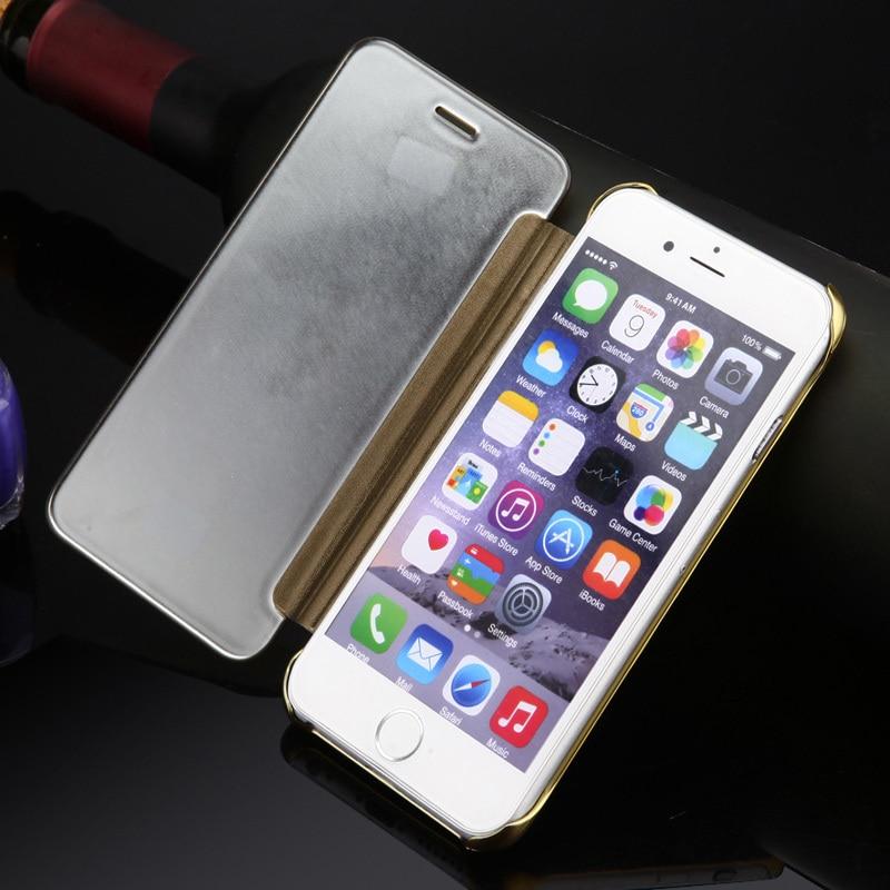 Luxury Batal Cerdas Window Protector Shell Kasus untuk iPhone 6 & 6 - Aksesori dan suku cadang ponsel - Foto 2