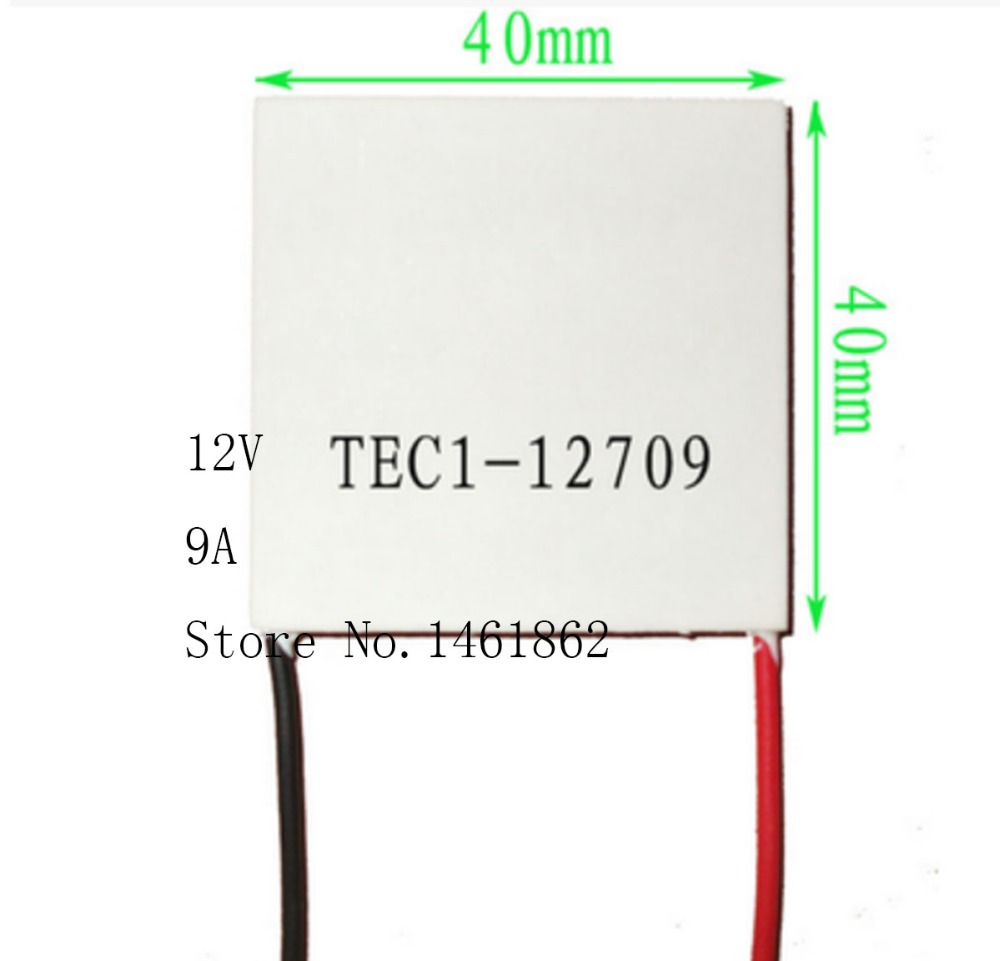 TEC1-12709 12V 9A 80W 40*40mm Thermoelectric Cooler Peltier Cells Module Cooling plate mechanism of semiconductor refrigeration tec1 12709 12v 9a 80w 40 40mm thermoelectric cooler peltier cells module cooling plate mechanism of semiconductor refrigeration