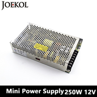 Mini Switching Power Supply 250W 12v 20A Single Output Ac Dc Converter For Led Strip AC110V