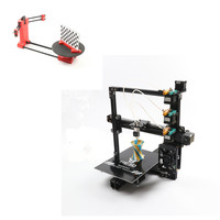 combination sale EI3 the newest 3 in 1 out extruder large print size triple 3D printer kit adding DIY 3D scanner kit