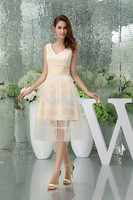 free shipping modest 2016 design hot sale cap sleeve go yard custom size plus size gown short sweet champagne Cocktail Dresses