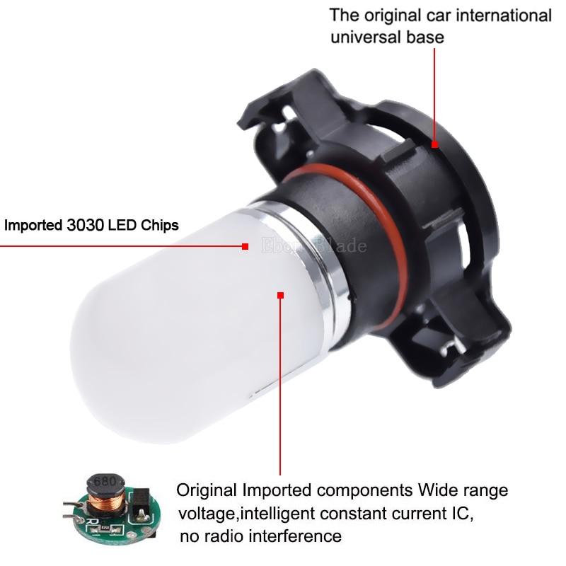 1Pcs H16 5202 PSX24W Led Bulbs For Cars Driving Fog Lights 3030 Chip Super Bright 6000K White Lighting 10V 30V Lamp in Car Fog Lamp from Automobiles Motorcycles