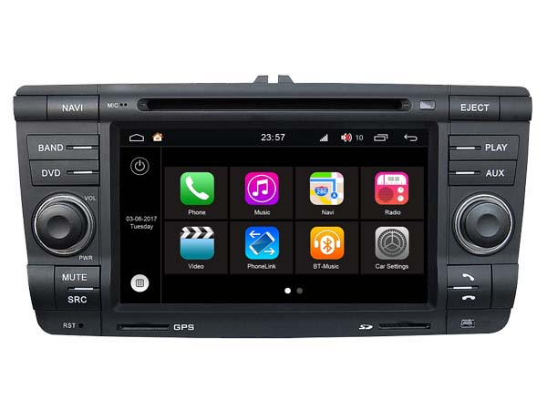 s200 android 8 0 car dvd player audio for skoda octavia ii. Black Bedroom Furniture Sets. Home Design Ideas