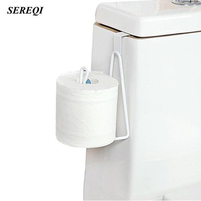 SEREQI Household Item Roll Paper Holder Bathroom Toilet Flap Paper ...