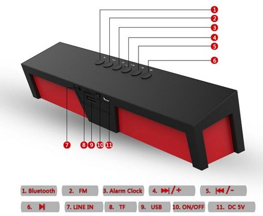 Free-shipping-Big-power-outdoor-HIFI-Subwoofer-Boombox-speaker-FM-Radio-USB-Amplifier-Stereo-Sound-Box