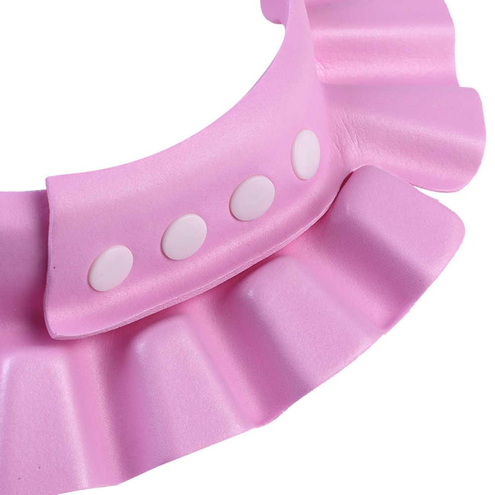 Brand New Baby dzieci czapki dla dzieci bezpieczne czapka kapelusz do mycia włosów tarcza regulowany elastyczne dziecko czapka Drop Shipping