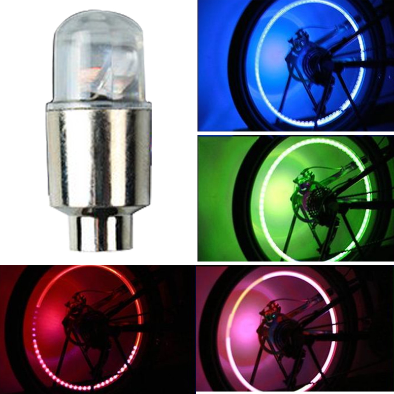 Electric Vehicle Parts Carprie New Fashion Auto Accessories Bike Supplies Neon Blue Strobe Led Tire Valve Caps-2pc Mr Car-styling Accessories Wholesale
