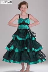 Бесплатная доставка Новое поступление спагетти Бретели для нижнего белья линии свадебное платье с цветочным узором для девочек