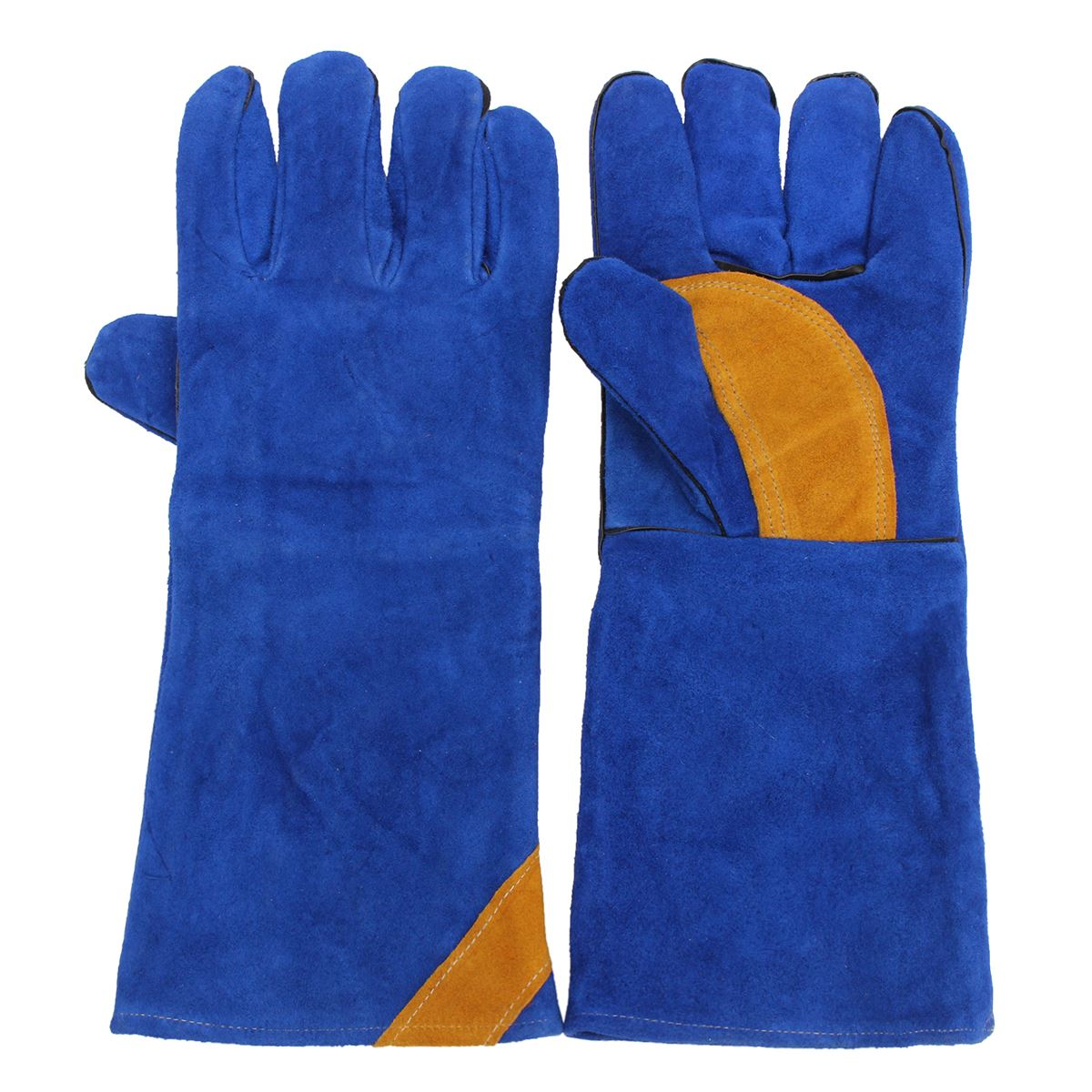 16'' Pair Long Heavy Duty Double Reinforced  Welding Gauntlets Welder Gloves Safety Gloves manitobah рукавицы fur gauntlets
