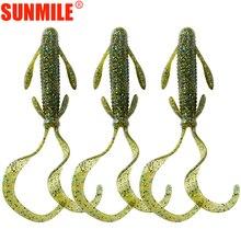 SUNMILE 5pcs/lot Double Tails Fishing Lure Pesca 10cm/6g Artificial Soft Lures Silicone Bait Wobblers Leurre Souple Bass