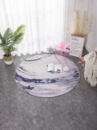 Tapis rond géométrique chambre ordinateur nordique chaise pivotante tapis de vestiaire étude tapis de chevet tapis de salon