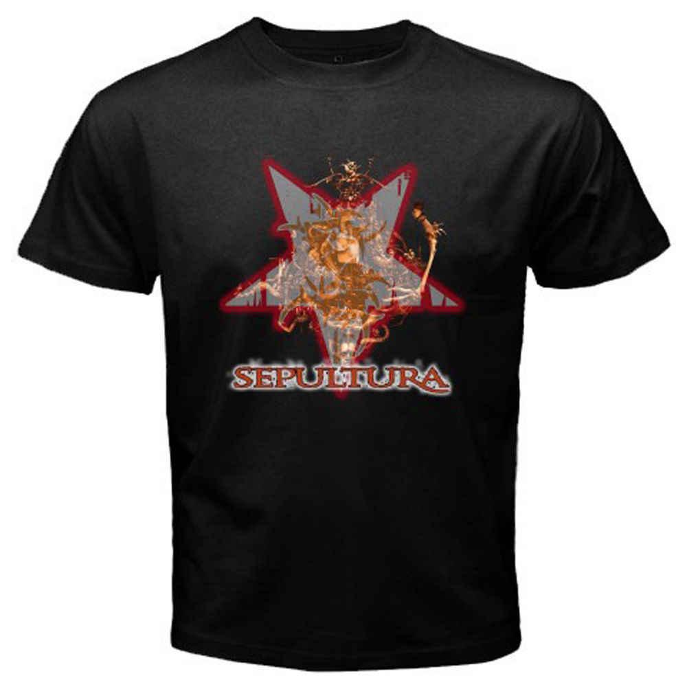 Nieuwste 2018 Nieuwe SEPULTURA Metal Band Loo mannen Bla T-Shirt SML XL 2XL 3XL Merk Kleding Hip-Hop top