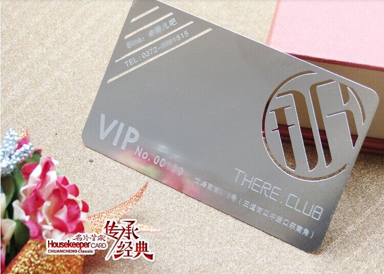 Couleur Mtallique 100 Pcs Beaucoup De Luxe En Mtal Carte Visite Cartes Vip Double