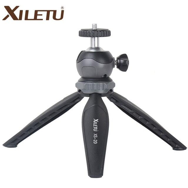 XILETU XS-20 Mini Desktop pequeno Suporte Do Telefone Tripé De Mesa para Vlog Mirrorless Câmera do telefone Inteligente com Bola De cabeça Destacável
