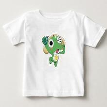 купить Keroro children Tshirt Sleeve T Shirt Cartoon Anime Keroro Logo tshirt 100% Pure cotton boys and girls S-3XL size T- shirt MJ дешево