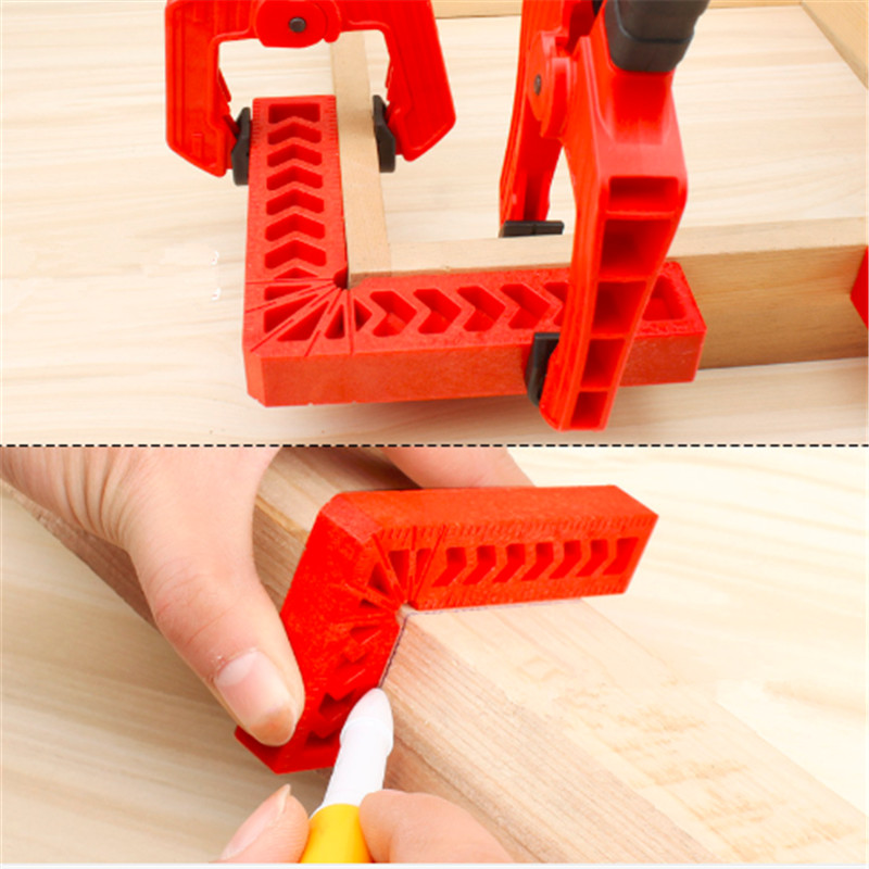 90 Degree Red Right Angle Auxiliary Locator 3/4/6 Inch Woodworking Tools Plastic Square Angle Ruler Holder