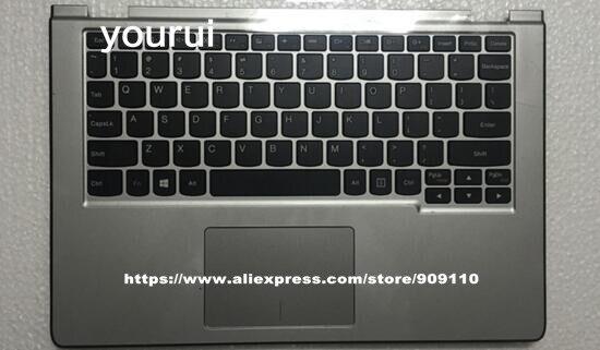 Yourui 95 nouveau Original pour Lenovo Yoga 2 11 Palmrest housse supérieure + clavier avec Touchpad argent 90204958 AP0T5000200