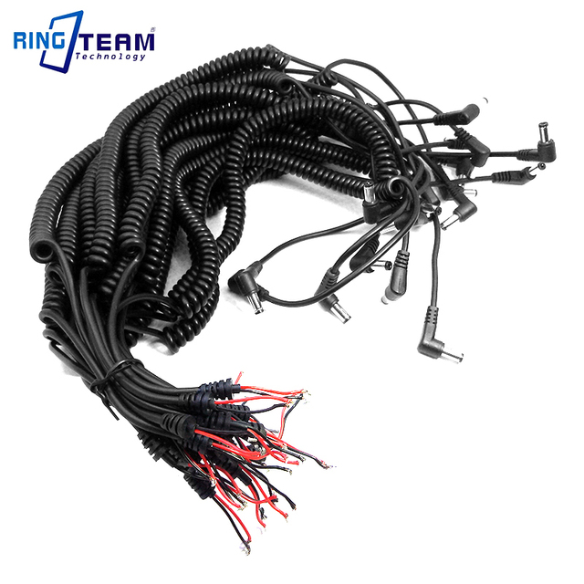 US $8.66 |10Pcs 5.5x2.1mm DC Plug Spiral Coiled Curved Power Cable on