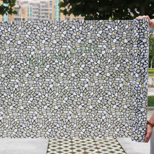 Crushed Stone Glass Window Film sticker Frosted Privacy Stained balcony Self-Adhesive Home foil Decorative films 45/90*500cm