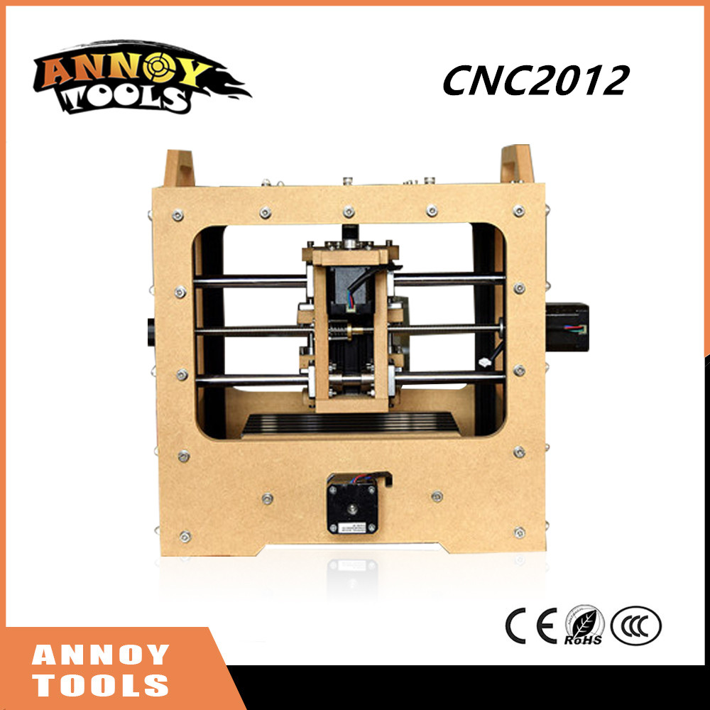 Newest ANNOYTOOLS Mini DIY CNC Engraving Machine 20*12CM Working Area Off-line Carving Function PCB Milling CNC Router eur free tax cnc 6040z frame of engraving and milling machine for diy cnc router