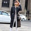 Хлопок проложенный пальто женщин зимняя куртка Тонкий Длинный толстый зимний куртка, женская мода верхняя одежда ватные пальто, зимняя куртка TT814