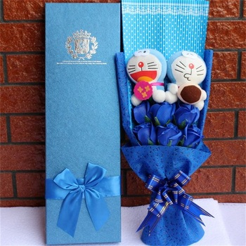 Diy Cartoon Plush Toys Stitch Stuffed Animal Doll Bouquet For Graduation/birthday / Wedding / Christmas Day For Girls Decoration 1