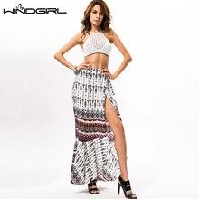 Wholesale split maxi skirt