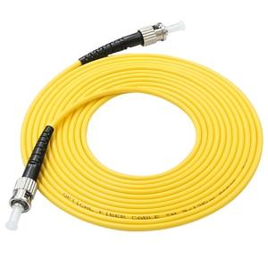 Image 3 - 10 pièces Simplex Fiber optique cordon de raccordement ST UPC ST UPC monomode Fiber optique câble de raccordement 3.0mm3M ST ST Fiber optique cordon de raccordement