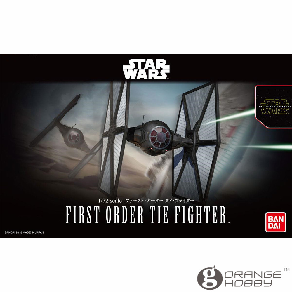 OHS Bandai Star War TFA 1/72 First Order Tie Fighter Assembly Model Kits oh