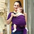 2015 Novo Estilingue Do Bebê Mochila Transportadora Envoltório Cor Sólida Dois Ombros Confortáveis Elásticas Algodão Hipseat Bebê Canguru Mochila