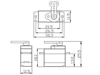5PCS K-power P0050 Servo Analogico 5G Di Plastica Gear Coreless Servo Mini/micro Servo Per RC Aereo/RC Di Hobby