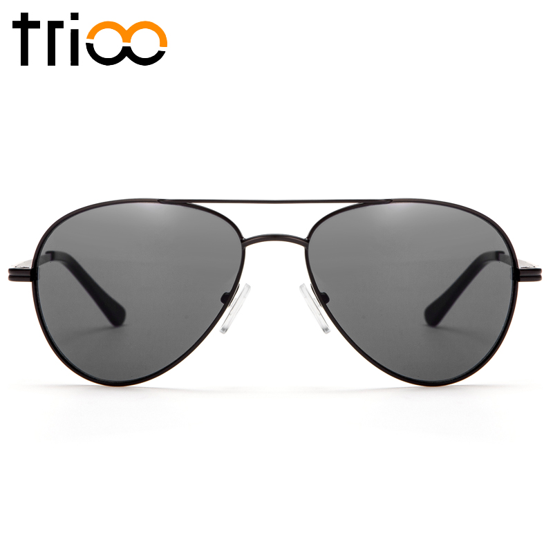 TRIOO Prescription Sunglasses Men UV400 Myopia Optical Sun Glasses Black Lens Male Glasses Minus Graduate Diopter Eyeglasses
