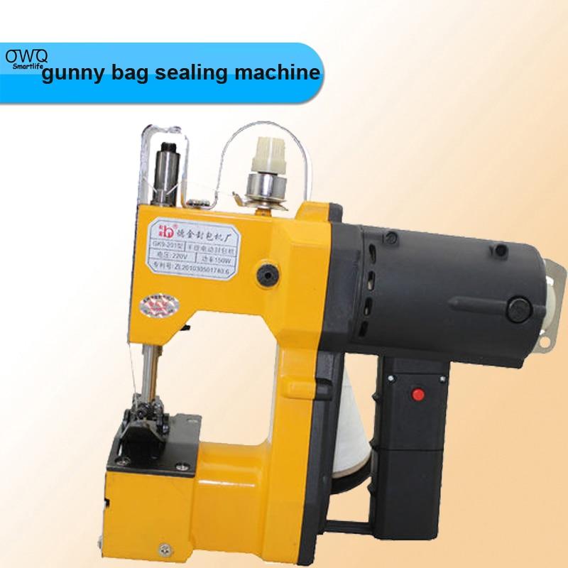 1PCS GK9-201 Portable electric sealing/packet machine Sewing Sealer Packer,woven/gunny bag capper,sack closer bark river gunny hunter
