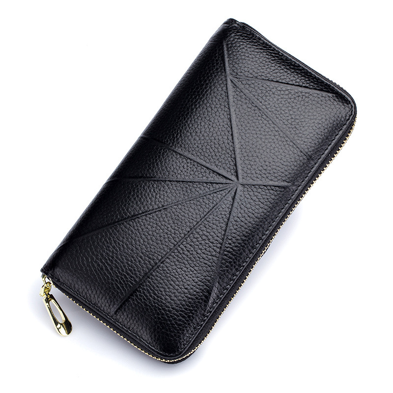 Fashion Genuine Leather Wallet Women Long Purse Wallet Female Clutch Women Wallets Luxury Brand Coin Purse for Phone Card Holder joyir embossed flowers genuine leather women wallets brand design fashion long purse clutch coin purse card holder lady female27