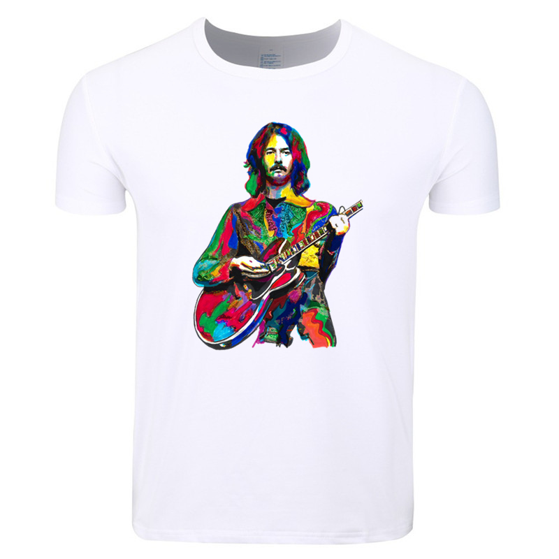 Asian Size Men And Women Print Slowhand Guitarist Eric Clapton Blues T-shirt O-Neck Short Sleeve Summer Casual T-shirt HCP4327