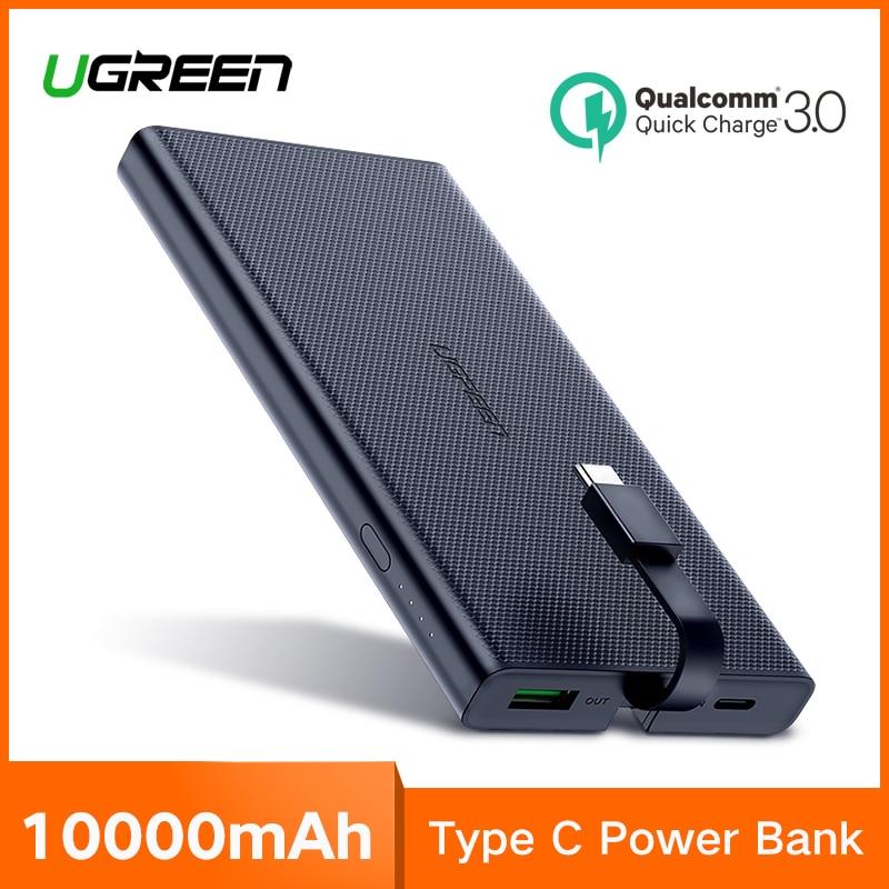 Ugreen Banco de la energía 10000 mAh portátil tipo C carga rápida Powerbank para iPhone XS 8 cargador de batería externa para el teléfono banco