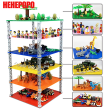 2 and 4 Floors City Base Plate for Small Bricks Board DIY Building Blocks Sets Educational Baseplate Toys for Children diy 4 floors baseplates tower