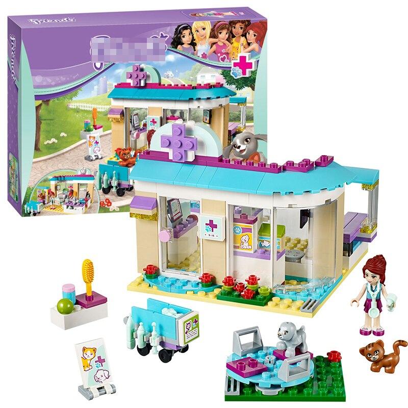 Bela 10537 Freunde pet krankenhaus tierarzt Klinik Baustein-satz-diy Ziegel Pädagogisches spielzeug 41085 Kompatibel Legoing Beste Geschenk