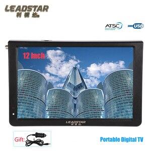 LEADSTAR-reproductor MP4 Digital portátil, de 11,6 pulgadas, LED, ATSC, para TV, MP4, MP3, compatible con AV, TF, USB y HDMI, puede ser como la televisión Digital del coche