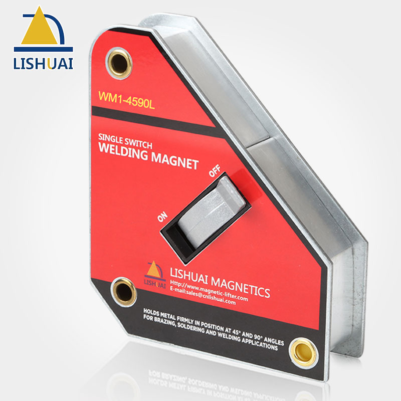 LISHUAI Single Switch Square Welding Magnet NdFeB On/Off Magnetic Welding Holder WM1 Series yellow 8mm nozzle single outlet coolant magnetic base holder