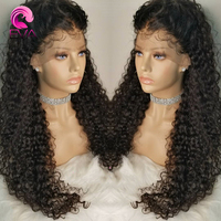 Eva 150Density 13x6 Lace Front Human Hair Wigs Pre Plucked With Baby Hair Glueless Brazilian Remy Curly Hair Wig For Black Women