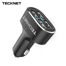 TeckNet 4 Port PowerDash D2 9.6A/48W Rapid Travel USB Car Charger with fast chargeing For iPhone 7 / 7 Plus / 6s / 6s Plus