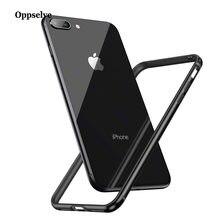 74da2e8e11e Funda de teléfono de lujo para iPhone X 8, 7, 6, 6 s Plus, parachoques de  aluminio, cubierta de la caja del marco del borde de l.